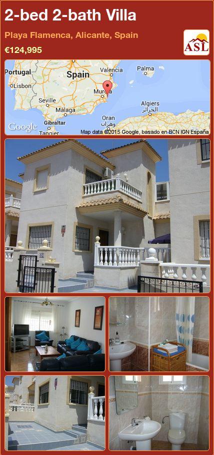 2-bed 2-bath Villa in Playa Flamenca, Alicante, Spain ►€124,995 #PropertyForSaleInSpain