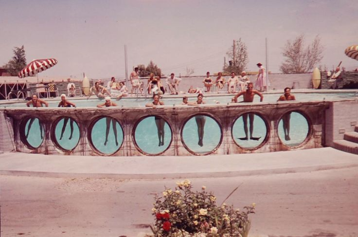 Mirage Motel. Las Vegas, May 1955. Mirage (later known as the Glass Pool Inn) opened on the south end of the Las Vegas Strip in the mid 50s. The motel was closed and demolished in 2004. Photo by...