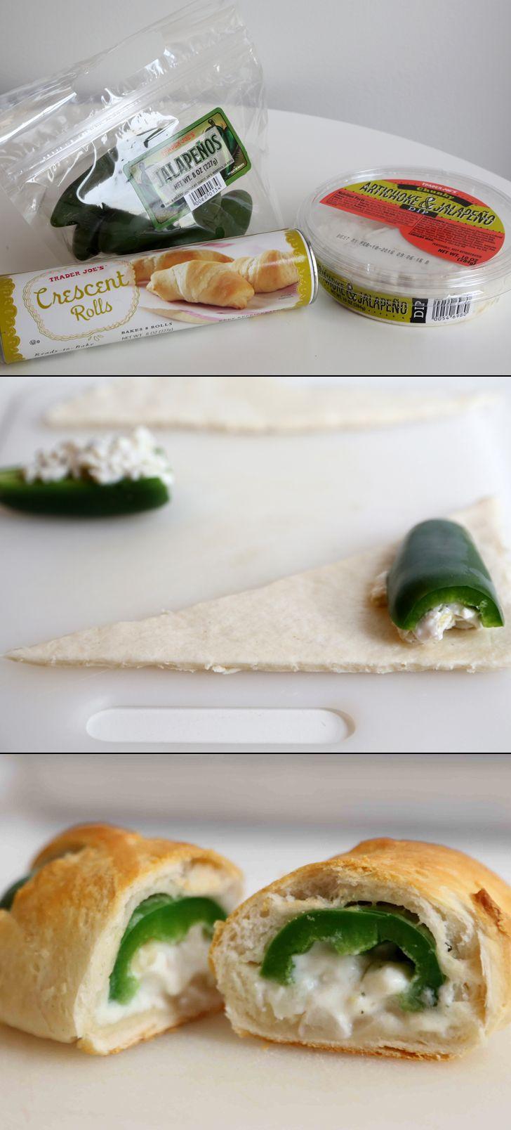 A Trader Joe's appetizer hack you've GOT to try: Jalapeño popper crescent rolls.