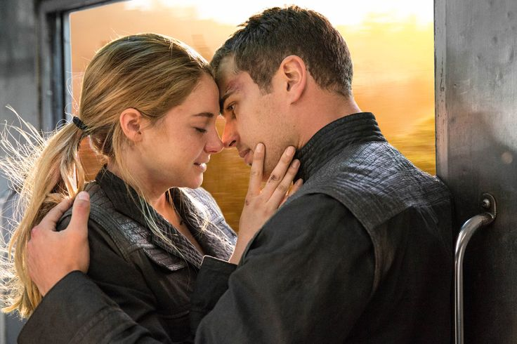 'Divergent still': Shailene Woodley and Theo James