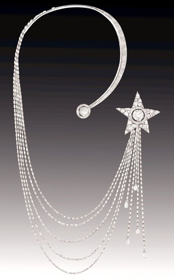 Chanel 1932 Collection - Etoile Filante Necklace - House of Chanel (French, founded 1913) - Design by Gabrielle 'Coco' Chanel - @Mlle