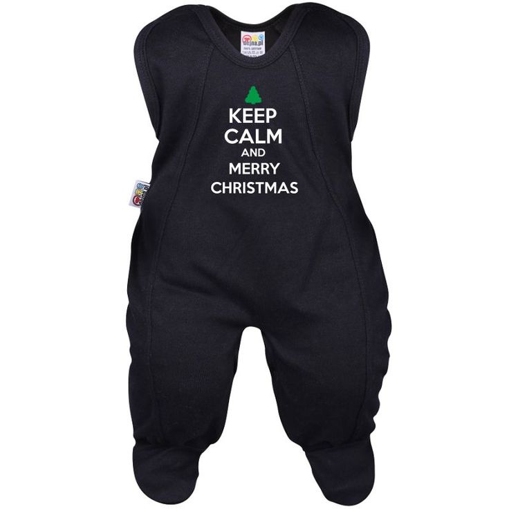 Grenouillère bébé Noël : Keep Calm and MERRY CHRISTMAS