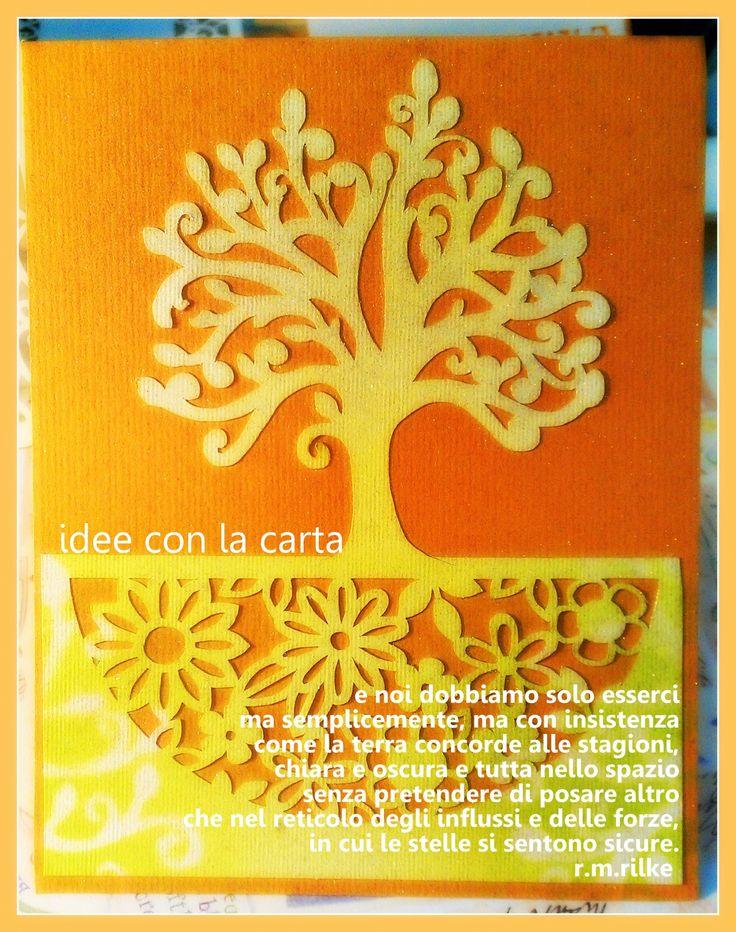 Biglietto, invito, l'albero della vita
