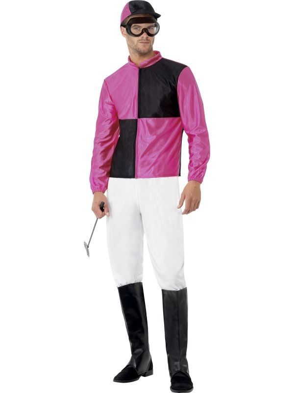 ADULT MENS JOCKEY COSTUME SMIFFYS HORSE RIDING FUNNYSIDE FANCY DRESS - 2 SIZES #Smiffys #CompleteOutfit