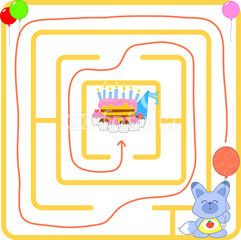 Happy birtday solved maze