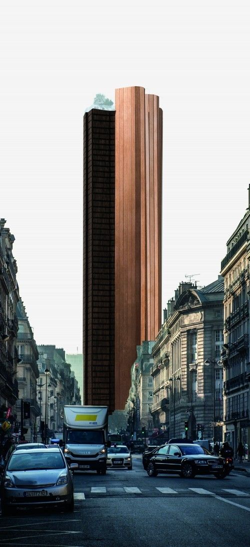 Runner-Up Proposals Revealed in Tour Montparnasse Competition,Proposal by OMA. Image via le Pavillon de l'Arsenal