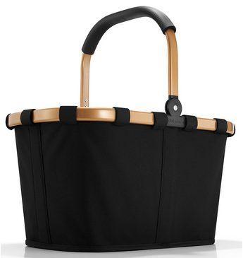 reisenthel® Einkaufskorb gold/black, »carrybag frame« Jetzt bestellen unter: https://moebel.ladendirekt.de/dekoration/aufbewahrung/korbwaren/?uid=810cb13f-b566-593c-9e65-a3aab86e8f95&utm_source=pinterest&utm_medium=pin&utm_campaign=boards #korbwaren #aufbewahrung #haushaltswaren #dekoration