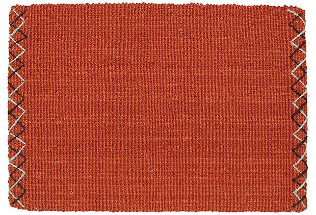 4'x6' Maxima Coir Rug, Brick on OneKingsLane.com