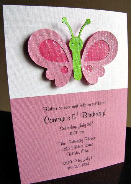 Butterfly Party Invitation. $2.50, via Etsy.