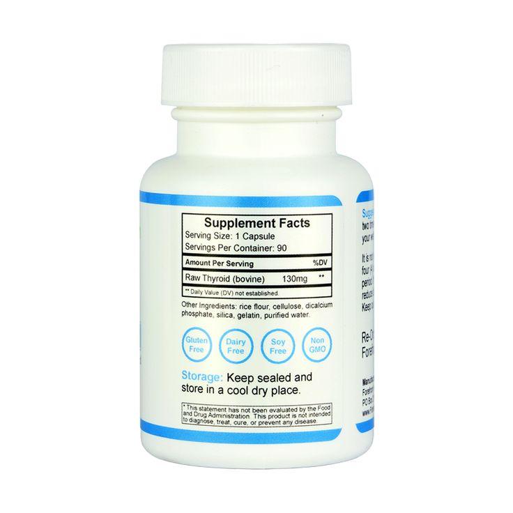 Raw Desiccated Thyroid (130 mg capsules) | Thyroid ...