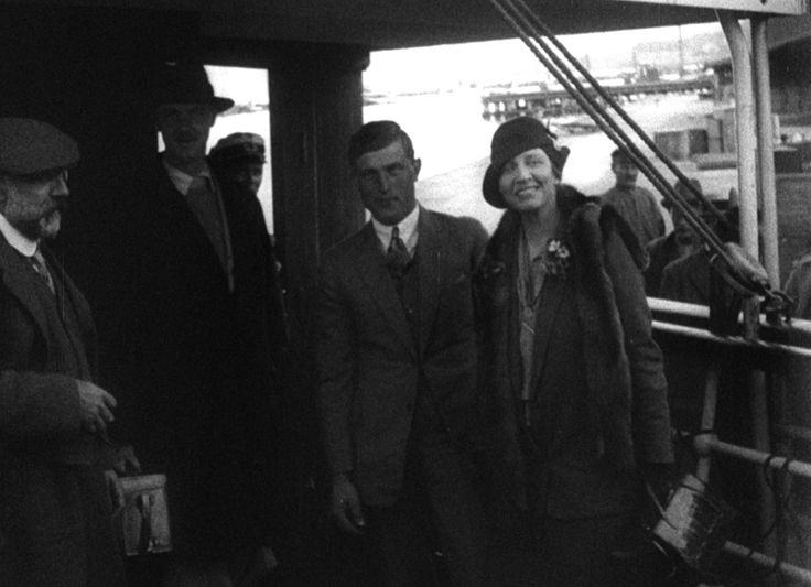 Louise Arner Boyd onboard an unidentified ship in the 1930's.