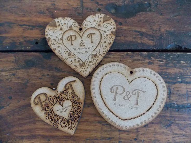 Wooden heart gifting keyrings