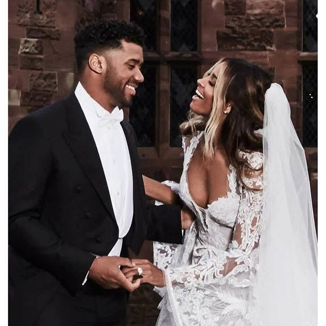 Russell and Ciara Wilson  The way he's looking at her vis versa so beautiful