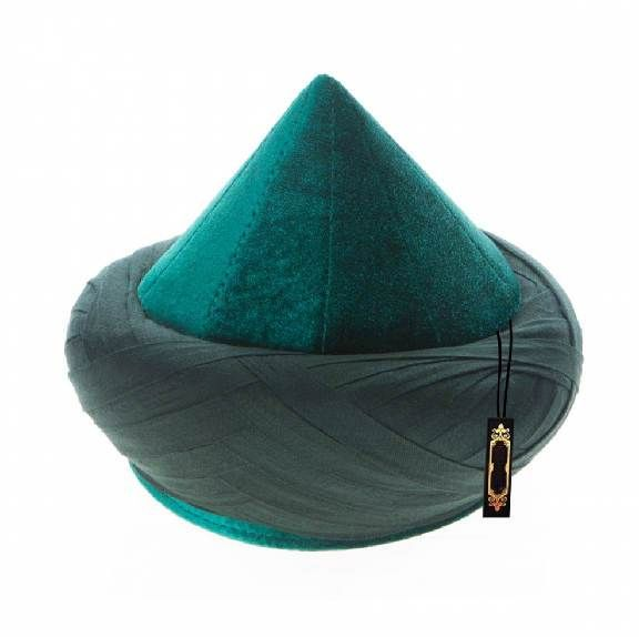 0d16ff0f2 Cyprus Model Handmade Green Imamah - %100 Cotton Thin Stripe Turban ...