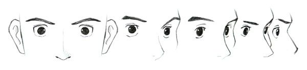 manga eyes from different directions