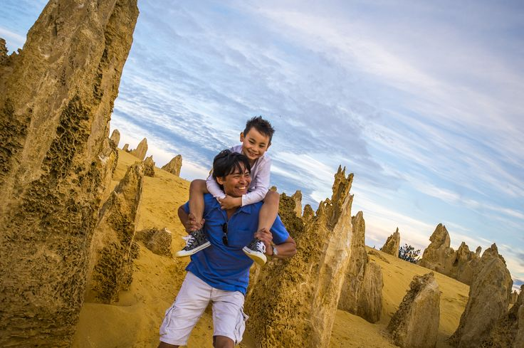 Cervantes - The Pinnacles is a great place for kids as a family outing just 2 hours north of Perth