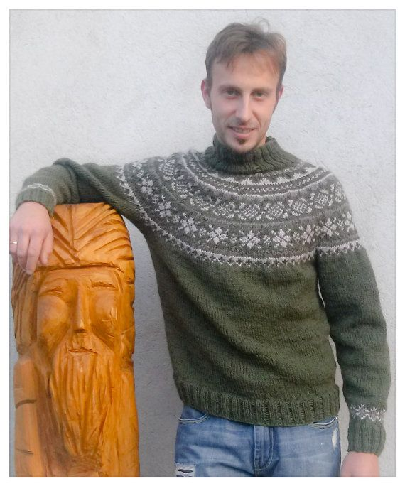 The Inverno Alpino sweater in norwegian wool for by MyriWoolandCo