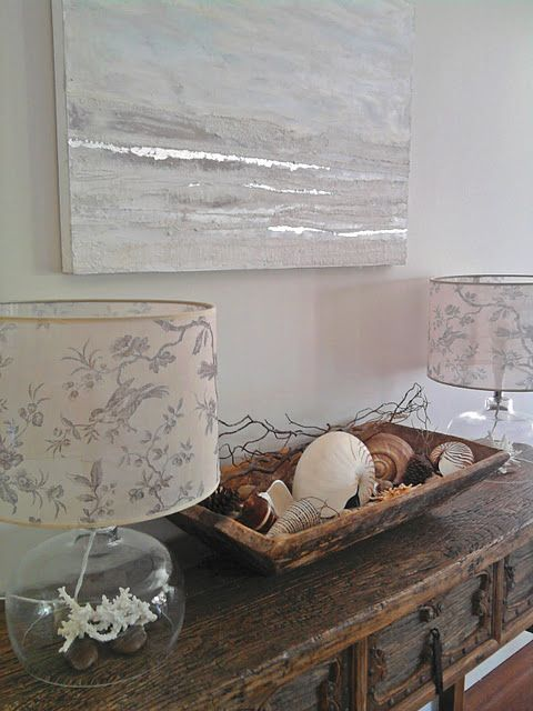My 'Nautilus' painting in-situ  Beach house makeover in progress