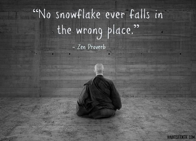 "*""No snowflake ever falls in the wrong place."" ~Zen proverb~"