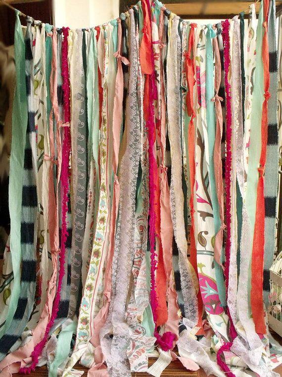 Boho Curtain Hippie Junk Gypsy Rustic Rag by BetterhomeLiving