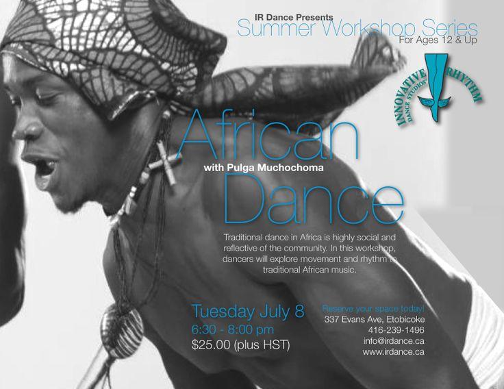 African Dance Workshop!  Exciting workshop offered at Innovative Rhythm Dance Studios, Toronto