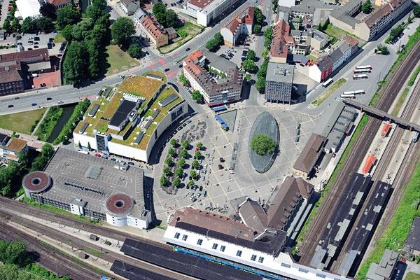 Luftbild Bahnhof Osnabrück Copyright: Fotograf Osnabrück http://www.frankwollinger.de