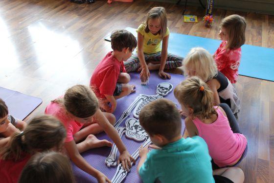 Idea For A Kids Yoga Class Lesson Use A Soft Skeleton