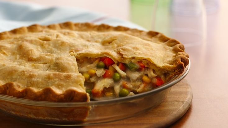 Home-baked turkey pot pie is a snap when you start with refrigerated pie crust and frozen vegetables. Comfort food at its finest!