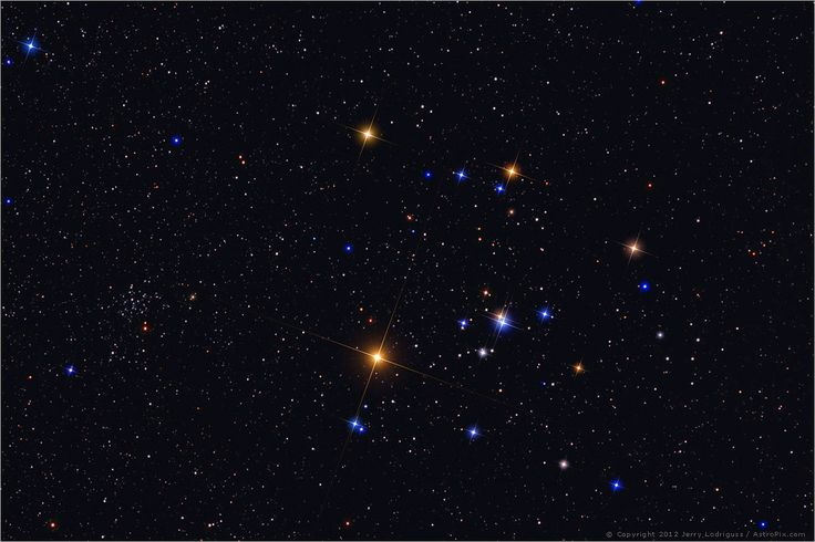V-shaped Hyades star cluster easy to find