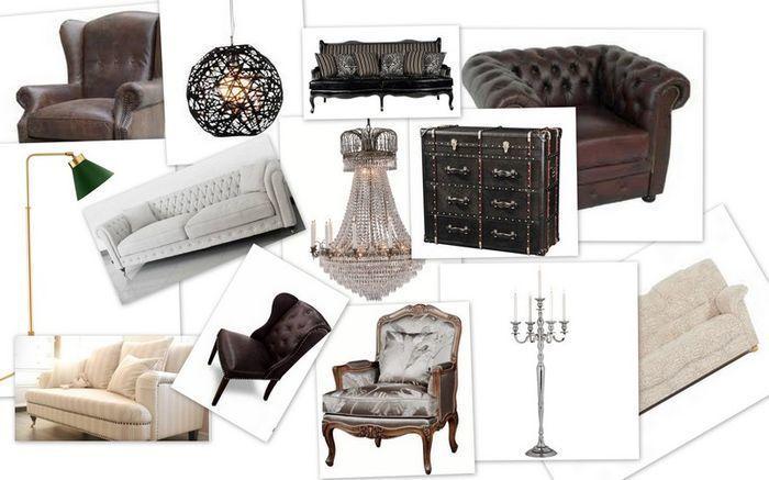 möbler till vardagsrum herrskaplig stil