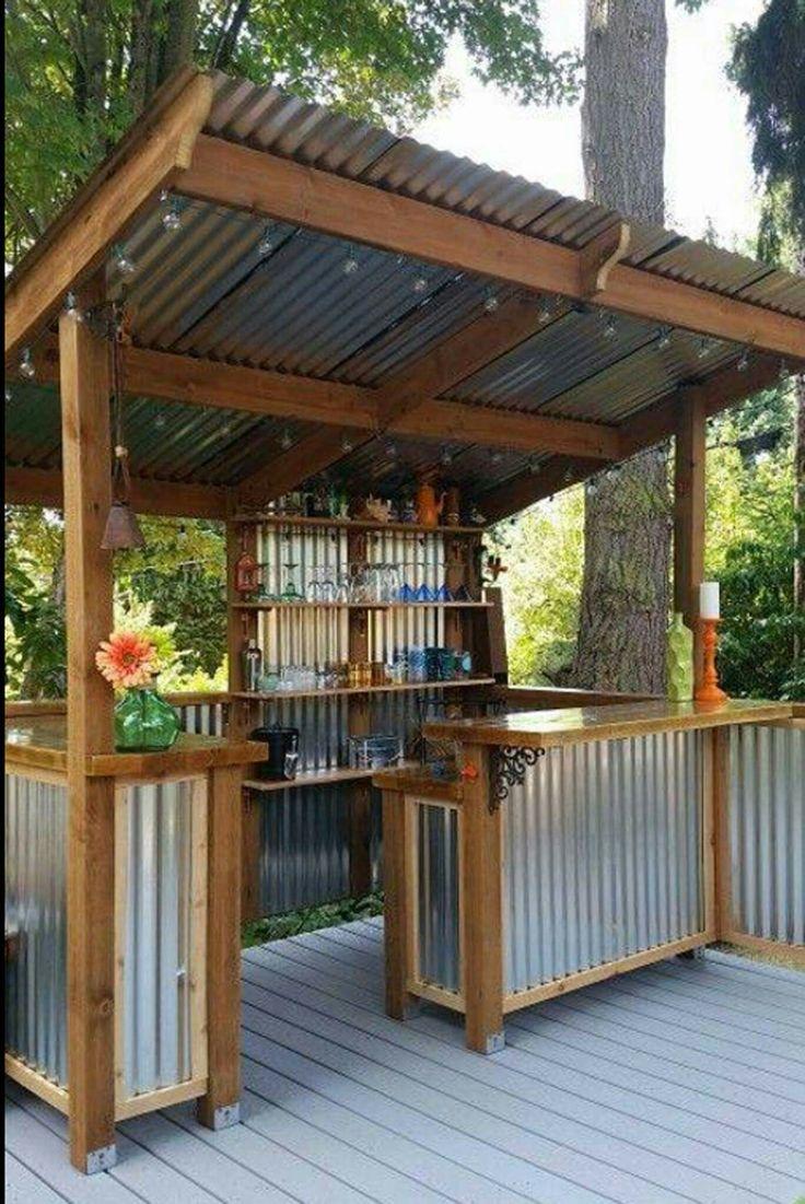Tin BBQ prep station