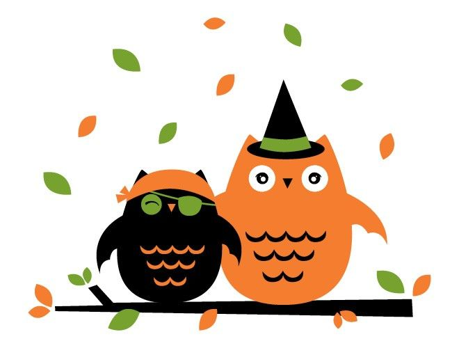 halloween owls wallpaper