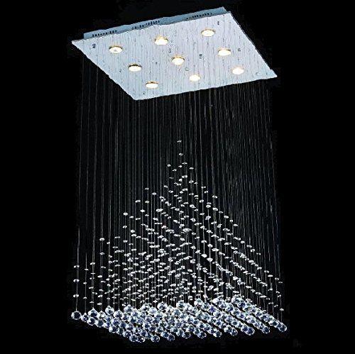 Modern Chandelier Rain Drop Lighting Crystal Ball Fixture Pendant Ceiling Lamp H18 X W12, 3 Lights, Free Shipping