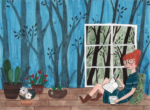 El bosque entintado. Portada de la libreta de los milagros. Libretas ilustradas. Agendas.