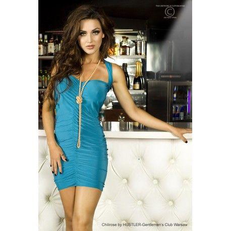 Minikleid CR3164 hellblau von Chilirose, die tolle Passform und der sexy Schnitt verleihen diesem Kleid einen aufregenden Touch - RW4136.