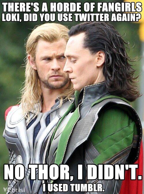 Thor and Lokie