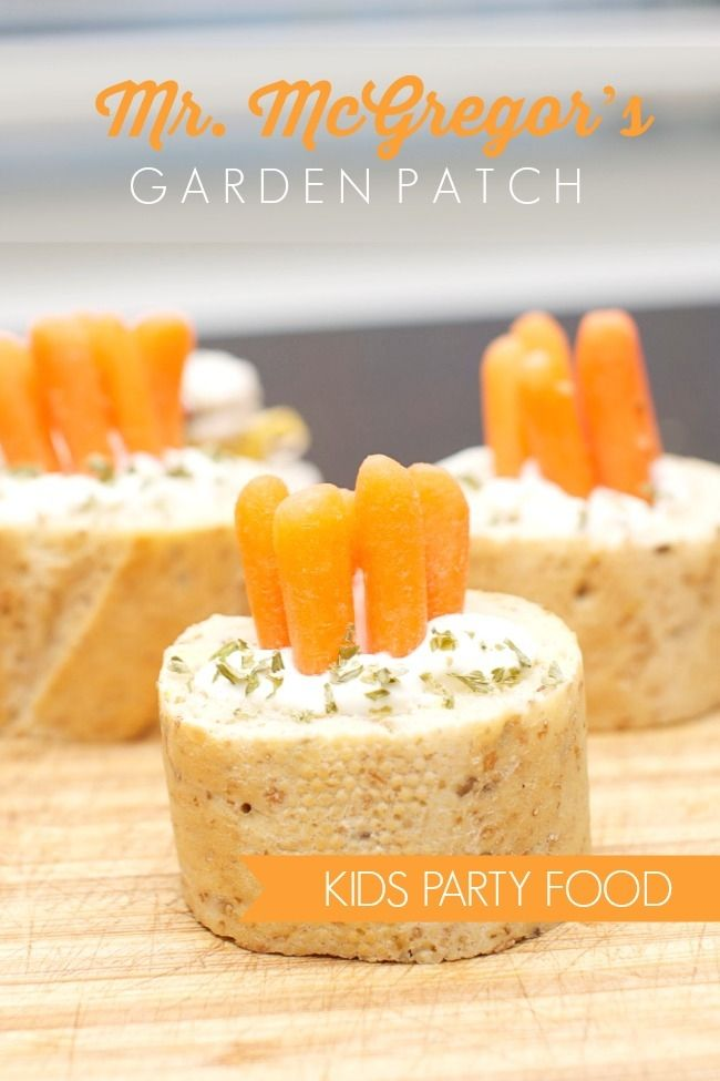 Kids' Party Food:Mr. McGregor's Garden Patch - Spaceships and Laser Beams