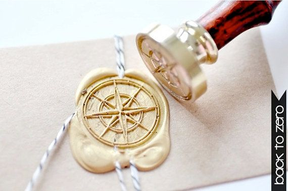 Compass Gold Plated Wax Seal Stamp x 1 via Etsy.  I just really need this thing.