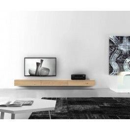 Holz Lowboard Konfigurator 120 150 180 240 270 300 cm Breite Eiche hell grau braun Klapptür Kabelkanal Hängend Wand Boden Design