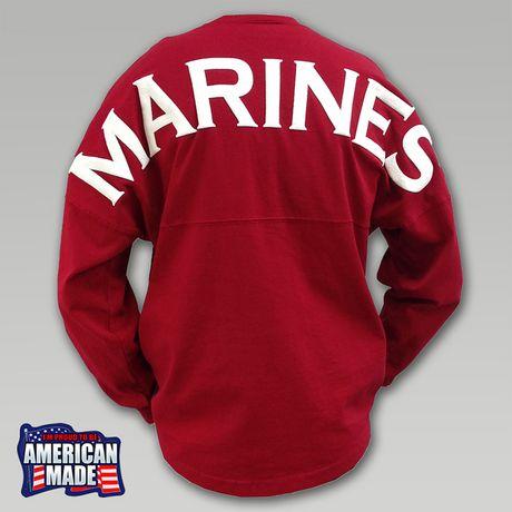 I want an Army one!!!    Marines Football Spirit Jersey   ArmedForcesGear.com