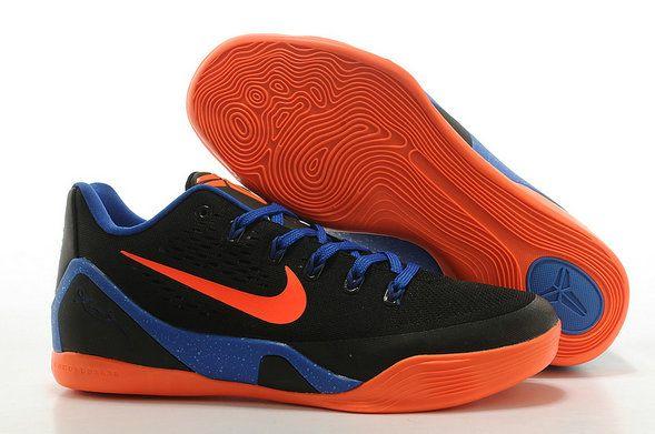 Free Shipping Only 69  Kobe 9 EM Black Photo Blue Total Orange OKC Away 7fde2ceaf1