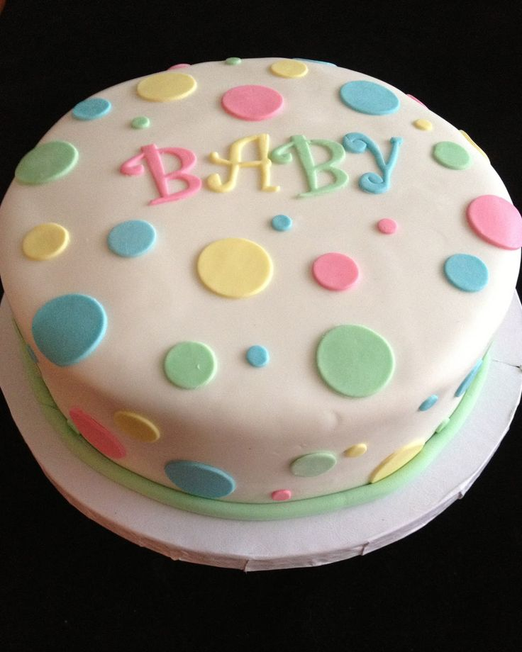 Easy Baby Shower Cake Ideas | unofficial shot of the cake I caught Willow trying to get at the cake ...