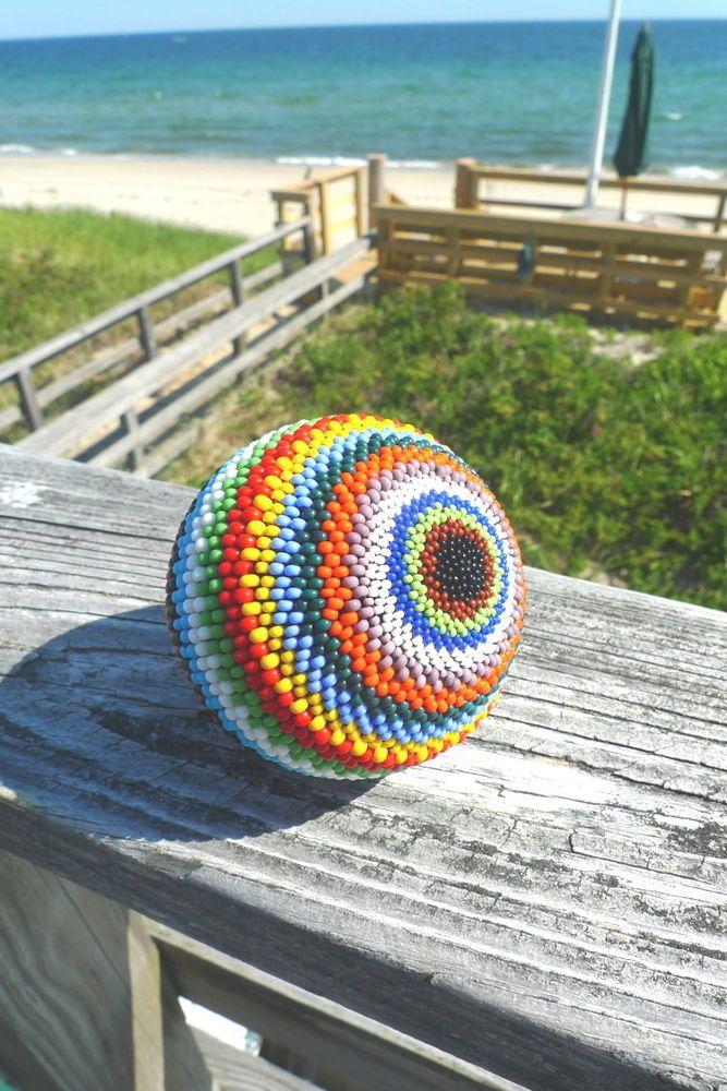 Handmade Beaded Ball Sphere #1 COLORFUL Home Decor  #Handmade