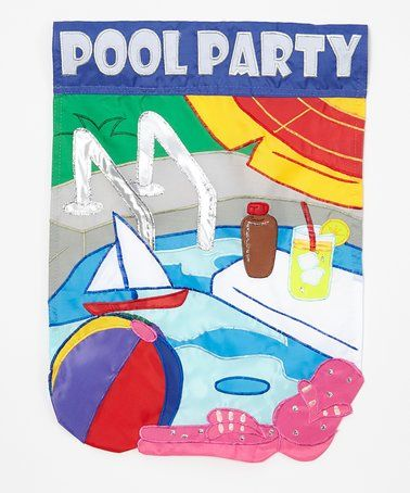 Another great find on #zulily! Blue 'Pool Party' Outdoor Flag #zulilyfinds