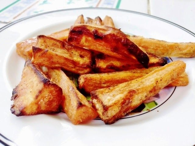 Claire Au Matcha: Les frites de Patates douces au four ...encore plus croustillantes!