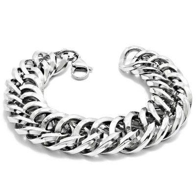 Ocelový Náramek - Masivní Řetěz / Massive Elegant Chain / Shiny (4818) Odkaz na WEBSHOP: http://www.ocelovesperky4u.cz/ocelove-naramky/masivni-retez-exeed-234818-steel-316l