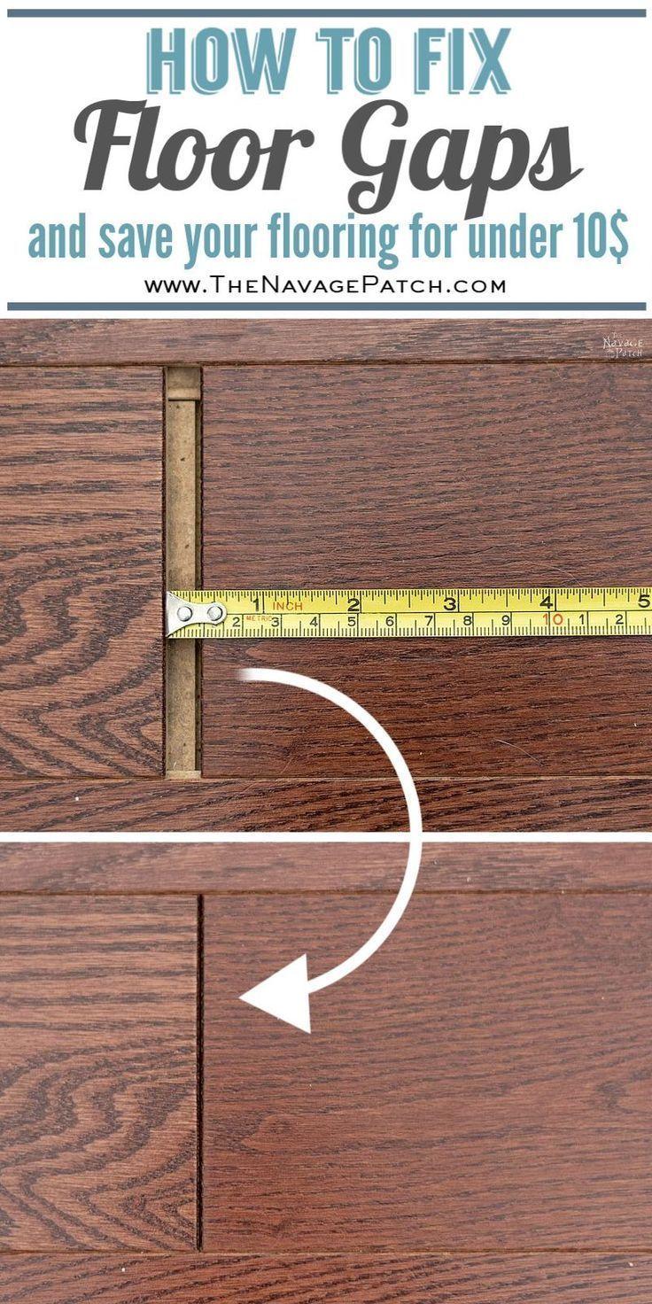 How To Fix Floating Floor Gaps Diy Home Repair Diy Flooring Diy Home Improvement