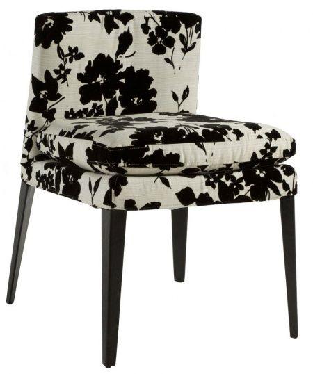 Легкость и изящество, эффектный внешний вид и продуманная функциональность характеризуют этот стул в популярном сегодня стиле арт деко. Высокие конусообразные ножки черного цвета и простая геометрическая форма сиденья и спинки эффектно дополняются роскошной обивкой белого цвета с черным цветочным орнаментом. Home Boutique – первая линия мебели DG HOME, которую характеризуют высокое качество, функциональность и  выразительный дизайн.  Большой выбор тканей и дерева, всевозможные размеры…