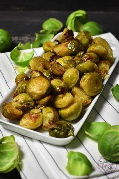 Rezept für gebackener Rosenkohl, Rosenkohl im Backofen zubereiten, Vegetarisch, Vegan
