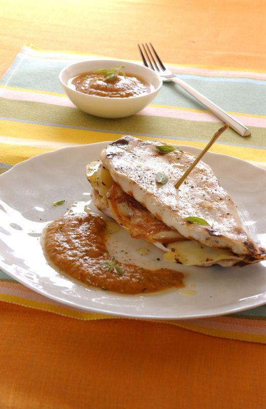 Tramezzini di pollo e verdure in salsa saporita